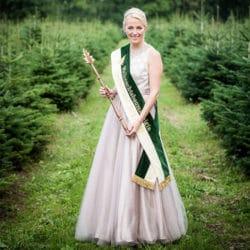 Weihnachtsbaumkönigin Saskia Blümel